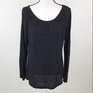 Ann Taylor LOFT Black Long Sleeve Shirt